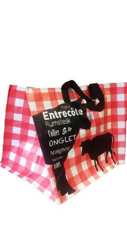sacs cabas durable r utilisable boucherie charcuterie traiteur pas cher bourges emballages. Black Bedroom Furniture Sets. Home Design Ideas